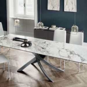 Alto Extending Dining Table with Marble Top