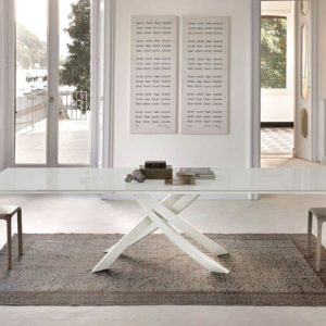 Alto 1.6m Fixed Glass Top Dining Table
