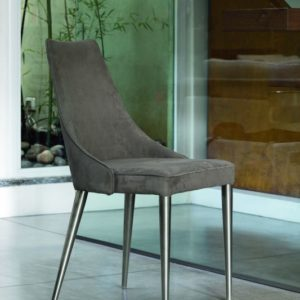 Claren Eco-Leather Dining Chair with Metal Frame
