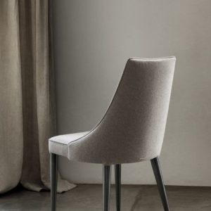 Claren Dining Chair with Metal Frame