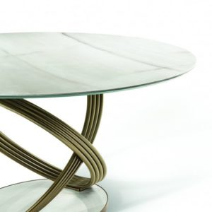 Frusia Round Table with Metal Base