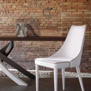 Claren Dining Chair with Upholstered Legs