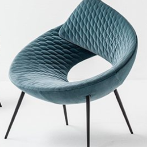 Logo Occasional Chair with Metal Base