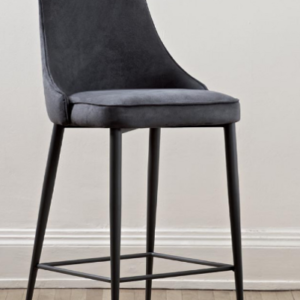 Fixed Bar Stool in Leather