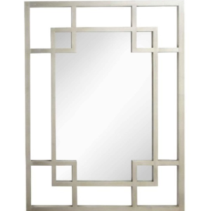 Cairo Silver Leaf Rectangle Mirror