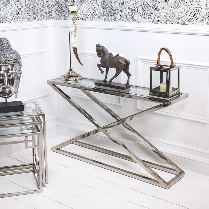Smithy Stainless Steel Console Table