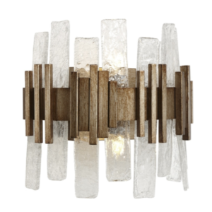 Safe Cracked Glass Wall Light